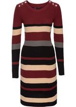 Bonprix   Платье в полоску (красный каштан/черный)   Clouty