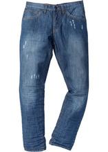 Bonprix   Джинсы Regular Fit Tapered, длина (в дюймах) 32 (синий «потертый»)   Clouty