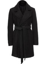 Bonprix | Шерстяное пальто с лацканами (черный) | Clouty