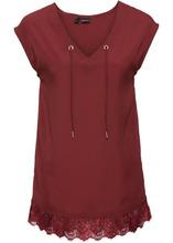 Bonprix | Шифоновая блузка (темно-красный) | Clouty