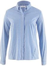 Bonprix | Блузка с длинным рукавом и удлиненной спинкой дизайна Maite Kelly (голубой/белый в полоску) | Clouty