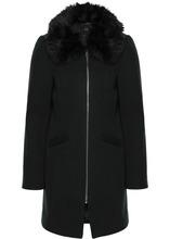 Bonprix   Пальто со съемным воротником из искусственного меха (черный)   Clouty