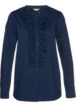 Bonprix | Блузка с рюшами (темно-синий) | Clouty