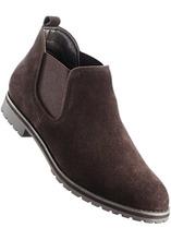 Bonprix | Замшевые ботинки-челси (темно-коричневый) | Clouty