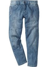 Bonprix   Джинсы Regular Fit Tapered, длина (в дюймах) 32 (голубой выбеленный «потертый»)   Clouty