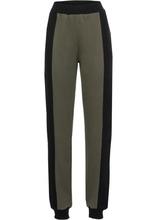Bonprix | Трикотажные брюки (оливковый/черный) | Clouty