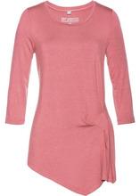 Bonprix | Асимметричная футболка, материал с содержанием шелка (розовое дерево) | Clouty