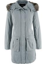 Bonprix | Пальто с вышивкой (дымчато-серый) | Clouty