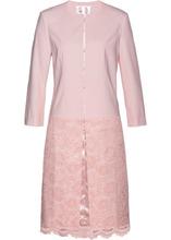 Bonprix | Длинный пиджак с кружевом (нежно-розовый) | Clouty