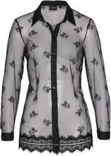 Bonprix | Блузка с кружевной отделкой (черный) | Clouty