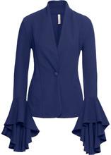 Bonprix | Пиджак с воланами на рукавах (полуночная синь) | Clouty
