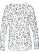 Bonprix | Блузка с принтом (белый с рисунком) | Clouty