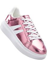 Bonprix | Кеды на платформе (ярко-розовый металлик) | Clouty