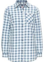 Bonprix   Клетчатая рубашка с длинным рукавом (синий/белый в клетку)   Clouty