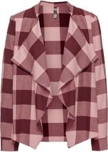 Bonprix | Легкий блейзер (дымчато-розовый/бордовый в клетку) | Clouty