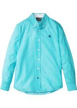 Bonprix   Рубашка с длинным рукавом в полоску (бирюзовый/белый в полоску)   Clouty