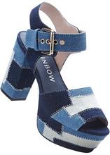 Bonprix | Босоножки на платформе (синий джинсовый) | Clouty
