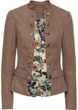 Bonprix | Пиджак 2 в 1 (серо-коричневый в цветочек) | Clouty