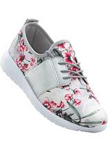 Bonprix | Кеды (белый/розовый в цветочек) | Clouty