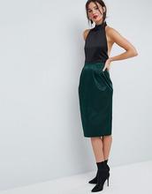 ASOS | Атласная юбка-карандаш ASOS - Зеленый | Clouty
