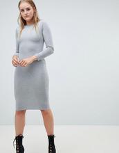 Boohoo | Платье миди с длинными рукавами Boohoo - Серый | Clouty