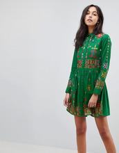 ASOS | Короткое приталенное платье-рубашка с вышитым ацтекским узором ASOS PR | Clouty