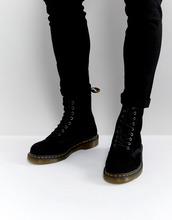 Dr. Martens | Замшевые ботинки Dr Martens 1460 - Черный | Clouty