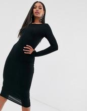 Boohoo | Платье миди с длинными рукавами Boohoo - Черный | Clouty