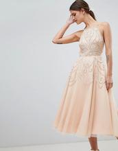 ASOS | Платье миди с открытой спиной и отделкой бусинами ASOS DESIGN | Clouty