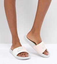 NIKE | Розовые шлепанцы Nike Benassi - Розовый | Clouty