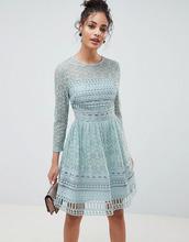 ASOS | Кружевное приталенное платье мини ASOS DESIGN - Зеленый | Clouty