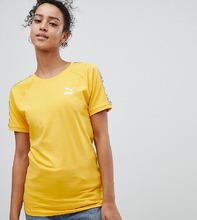 Puma | Желтая футболка с лентой на рукавах Puma эксклюзивно для ASOS - Желтый | Clouty