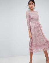 ASOS | Кружевное платье миди ASOS PREMIUM - Бежевый | Clouty