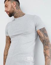 Religion | Серая удлиненная облегающая футболка Religion - Серый | Clouty