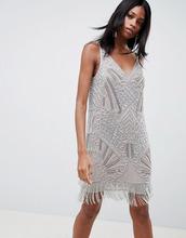 ASOS | Платье мини с декоративной отделкой ASOS EDITION - Серебряный | Clouty