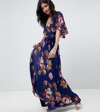 ASOS   Плиссированное платье макси с цветочным принтом ASOS TALL   Clouty