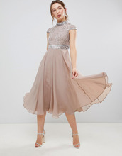 ASOS | Платье миди с короткими рукавами и декорированным лифом ASOS DESIGN Pr | Clouty