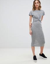 AllSaints | Платье миди в полоску с узлом AllSaints - Серый | Clouty