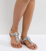 ASOS | Декорированные кожаные сандалии ASOS FAIRLIGHT - Серебряный | Clouty