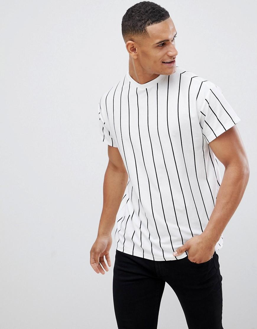 New Look   Белая футболка в полоску New Look - Белый   Clouty