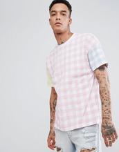 ASOS   Oversize-футболка в клетку ASOS - Розовый   Clouty