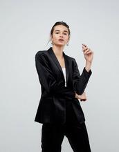 ASOS | Бархатный блейзер-смокинг ASOS Premium - Черный | Clouty