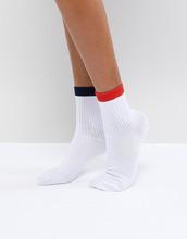ASOS | Носки с полосками ASOS DESIGN - Белый | Clouty