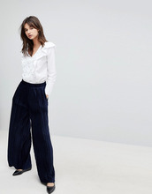 J.O.A.   Бархатные плиссированные брюки с широкими штанинами J.O.A   Clouty
