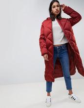 ASOS   Длинная дутая куртка ASOS DESIGN - Коричневый   Clouty