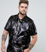 ASOS | Рубашка классического кроя с пайетками ASOS DESIGN Plus - Мульти | Clouty