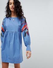 Free People | Платье мини с цветочным принтом Free People - Синий | Clouty