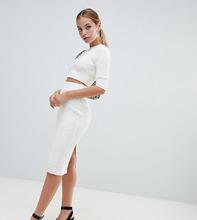 Fashion Union | Юбка-карандаш в рубчик из комплекта Fashion Union Petite - Кремовый | Clouty