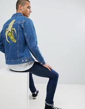 Weekday   Джинсовая куртка с вышивкой Weekday - Синий   Clouty