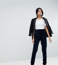 ASOS   Узкие бархатные брюки ASOS TALL Tailored - Темно-синий   Clouty